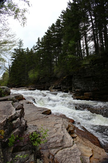 Theses cascades can be found along the Kancamagus Highway.