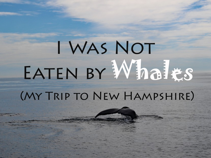I Was Not Eaten By Whales (My Trip to New Hampshire)